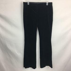The Limited Drew Fit Velour Pinstripe Black Pants